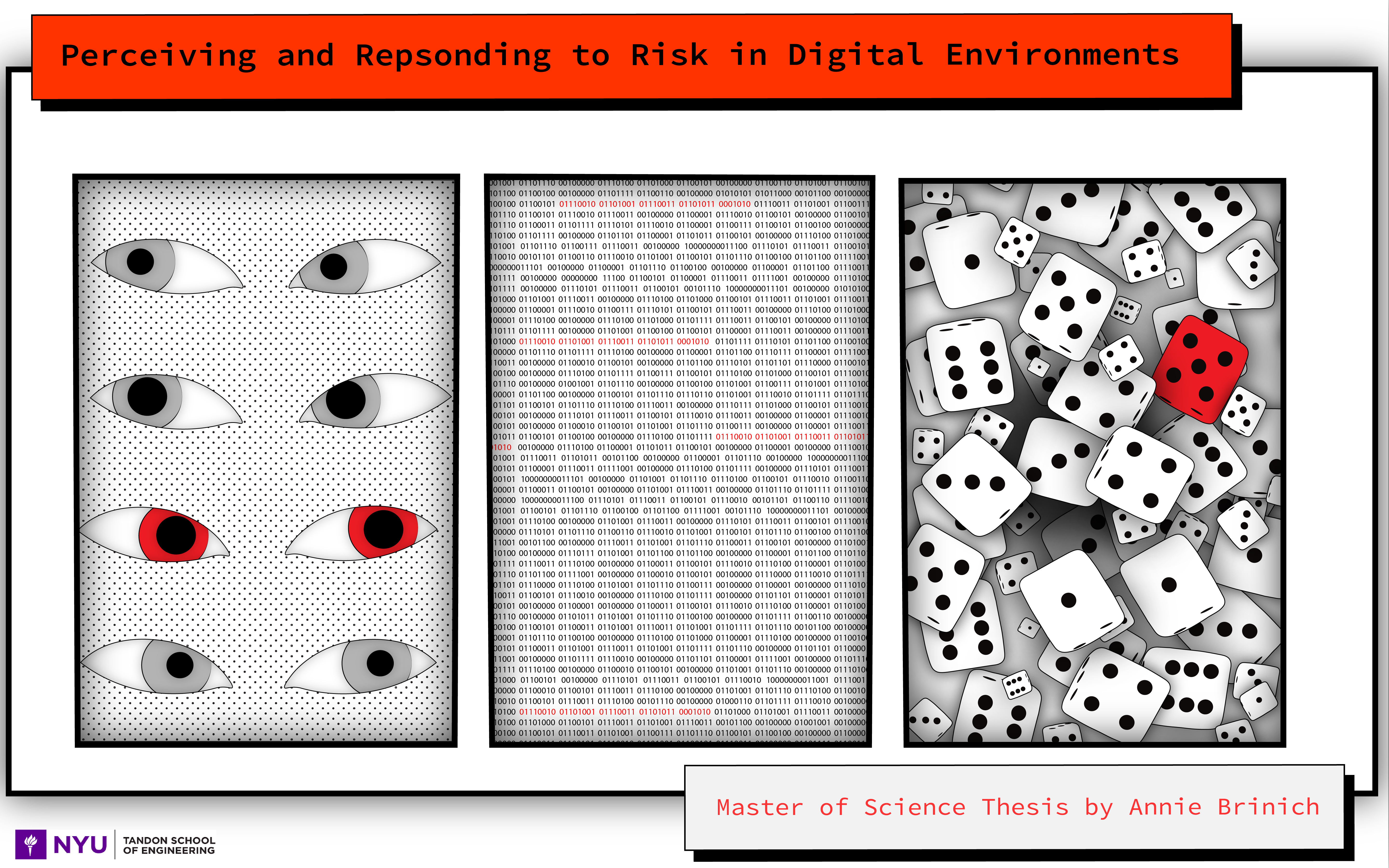 """Photo documentation of """"Risk Perception and Response in Digital Environments"""" by Annie Brinich"""