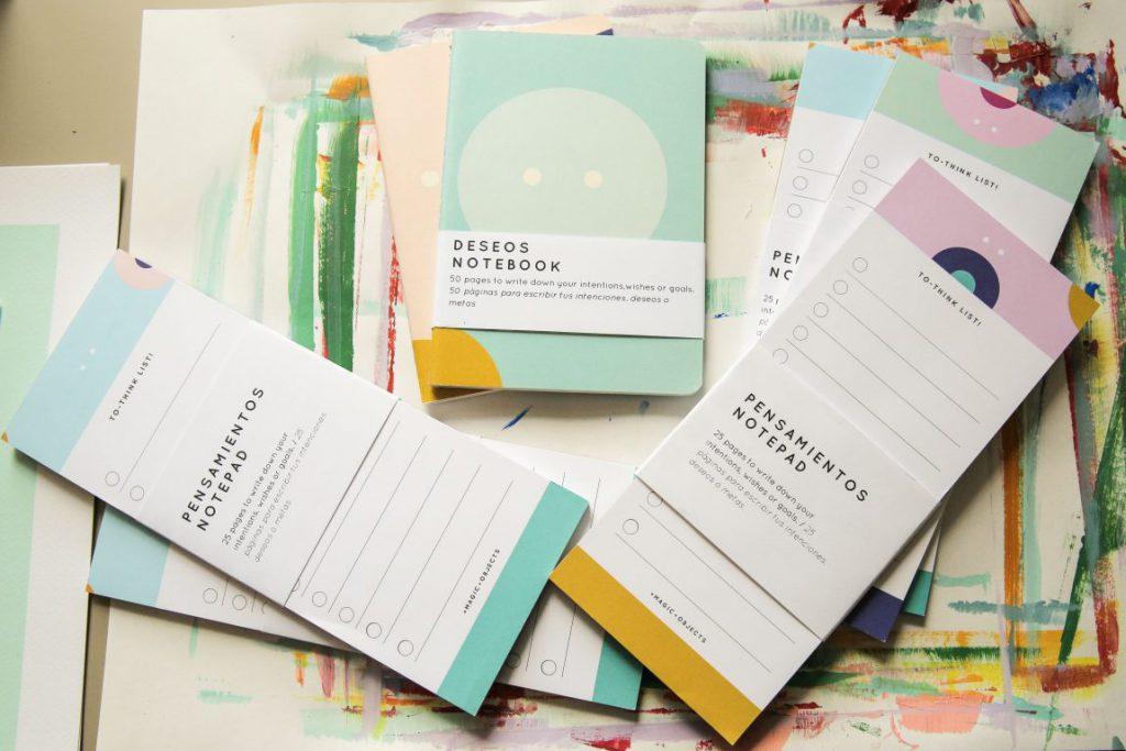 Diana Castro's notepads and notebooks Photo by Itzel Alejandra Martinez for Remezcla