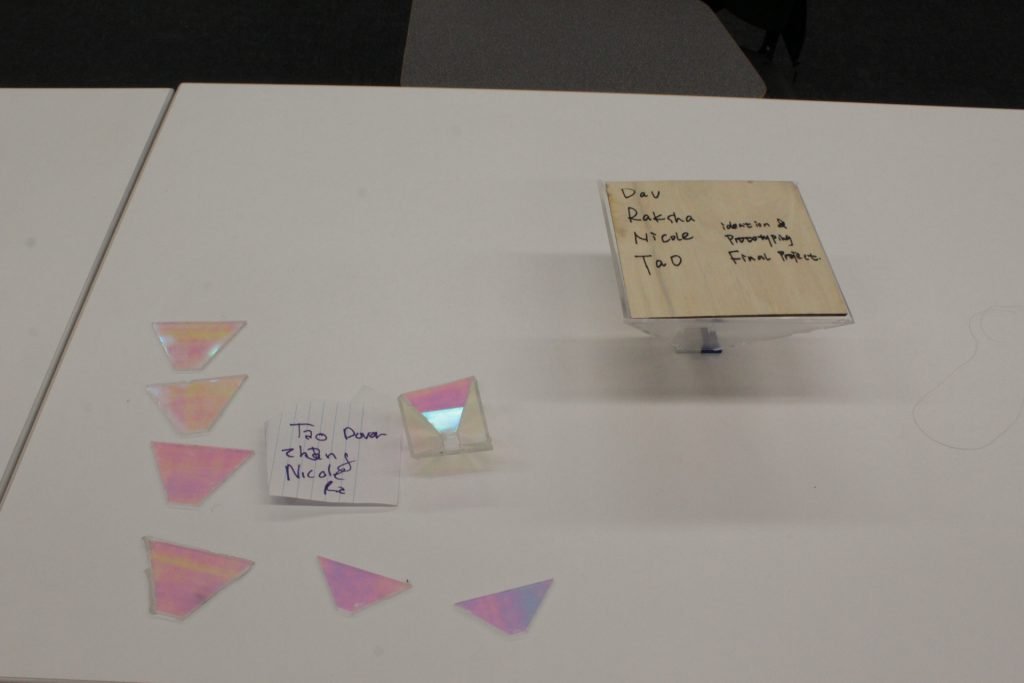 A student project which is a 3D hologram made through pepper's ghost illusion at ideation and prototyping showcase