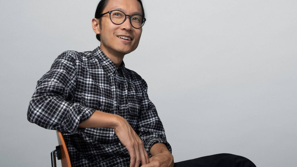 Lian Chang, Multimedia Product Design Director, Sitting in a Chair