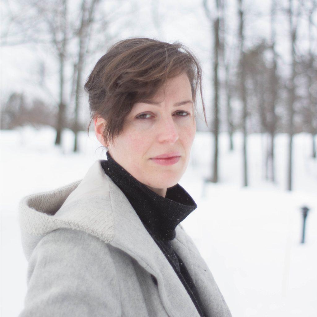 Sara Hendren, Professor at Olin College, Posing in a Winter Wonderland